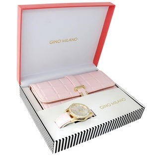 Ladies Wallet Sets With Matching Watch -Copper-Pink