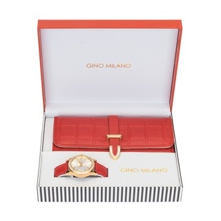 Ladies Wallet Sets With Matching Watch -Red