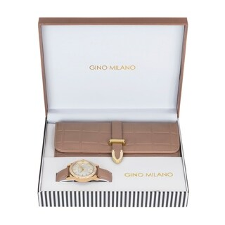 Ladies Wallet Sets With Matching Watch -Brown