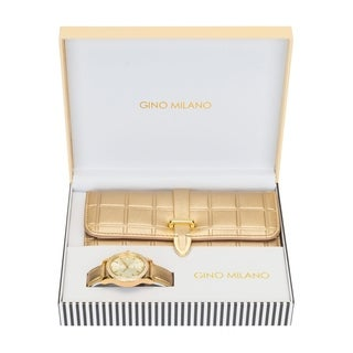 Ladies Wallet Sets With Matching Watch -Gold
