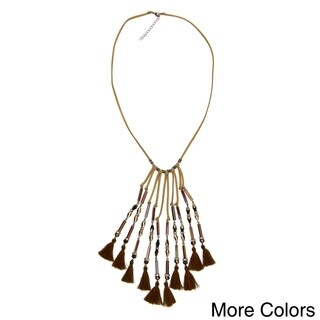 Handmade Saachi Parijat Tassel Necklace (China) (3 options available)