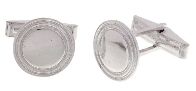 Mondevio Sterling Silver Classy Cuff Links - Thumbnail 0