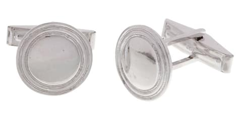 Mondevio Sterling Silver Classy Cuff Links