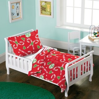 Dream Factory Candy Cane 2-piece Toddler Comforter Set