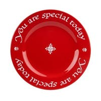 """Waechtersbach """"You Are Special Today"""" Red Plate, Giftboxed"""