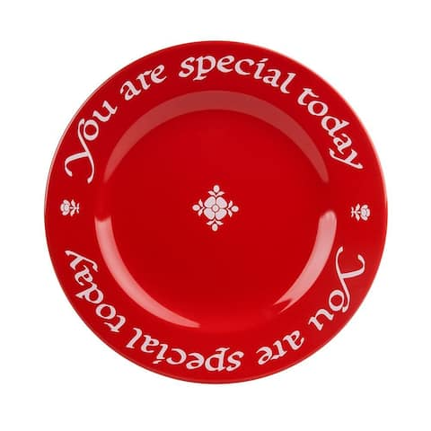 "Waechtersbach ""You Are Special Today"" Red Plate, Giftboxed"