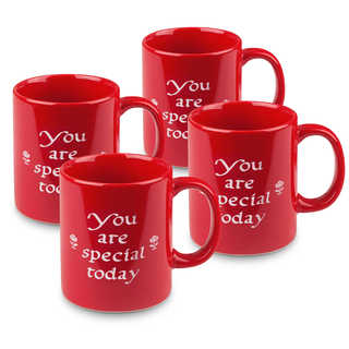 "Waechtersbach Set of 4 ""You Are Special Today"" Mugs"