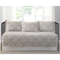 Truly Soft Everyday Celine Golden Ivory Printed 5 Piece Day Bed Set