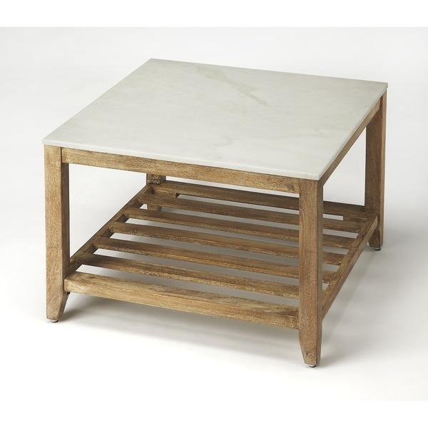 Handmade Brayden Marble Bunching Coffee Table (India)