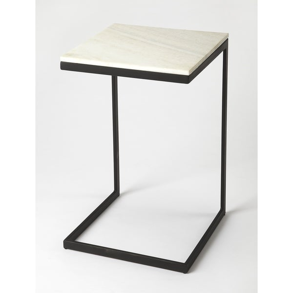 Butler Lawler Black Metal & Marble End Table