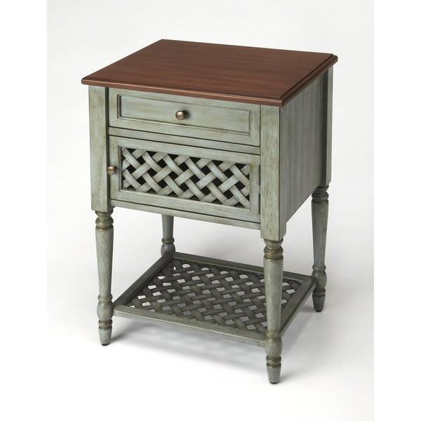 Handmade Chadway Rustic Blue End Table (Indonesia)