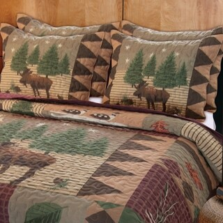 Moose Lodge Pillow Sham Set (Set of Two)