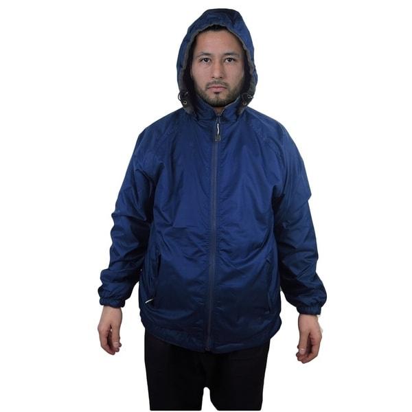 Shop Men S Jacket Nylon Reversible Fleece Lined Hooded