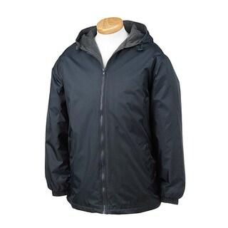 Men's Jacket Nylon Reversible Fleece-lined Hooded coat