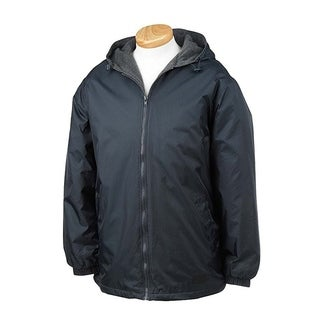 Men's Jacket Nylon Reversible Fleece-lined Hooded coat