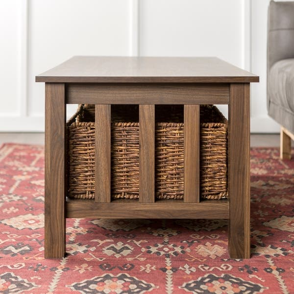 Swell Shop 40 Coffee Table With Wicker Storage Baskets 40 X 22 Bralicious Painted Fabric Chair Ideas Braliciousco