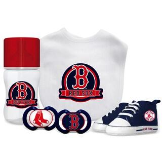 Boston Red Sox MLB 5 Pc Infant Gift Set