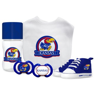 Kansas Jayhawks NCAA 5 Pc Infant Gift Set