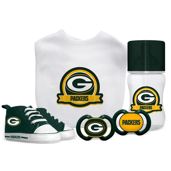 Green Bay Packers NFL 5 Pc Infant Gift Set. Opens flyout.
