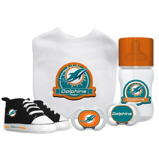 Miami Dolphins NFL 5 Pc Infant Gift Set