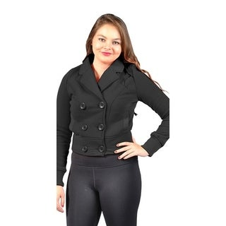 Women's Pluse Size Fleece Jacket with 2 Side Pockets Charcoal
