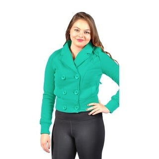 Women's Pluse Size Fleece Jacket with 2 Side Pockets Sage