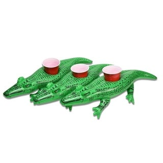 GoFloats Inflatable Alligator Drink Holder (3 Pack), Float Your Drinks In  Style