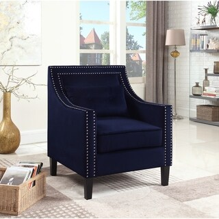 Best Master Furniture Suede Upholstered Accent Armchair