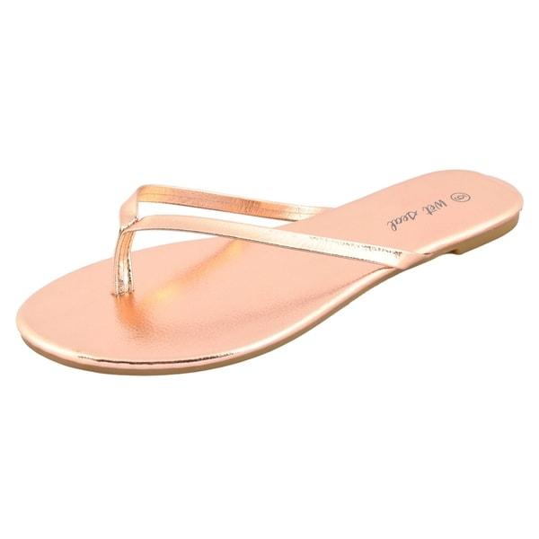 Rose Gold Flip Flops