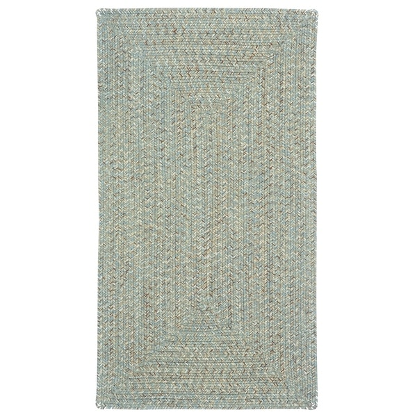 Capel Rugs Sea Gl Spa Concentric Rectangle Outdoor Braided 7 X27