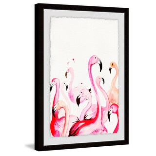 'Flamingo Party' Framed Painting Print
