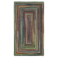 Capel Rugs Songbird Parakeet Multicolor Concentric Braided Rug - 7' x 9'