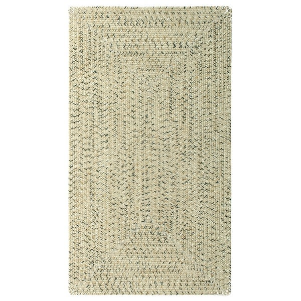 Sea Gl Shell Concentric Rectangle Outdoor Braided Rugs 8 6 X Free Shipping Today 19268385