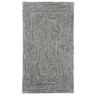 Sea Glass Smoke Concentric Rectangle Outdoor Braided Rugs