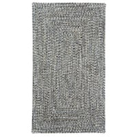 Capel Rugs Sea Glass Smoke Concentric Rectangle Outdoor Braided Rug