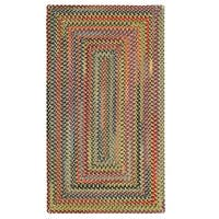 Capel Rugs Songbird Gold Concentric Rectangle Braided Rugs (3' x 5')