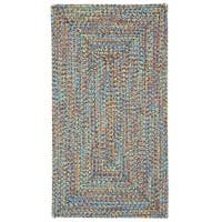 Capel Rugs Sea Glass Bright Multi Concentric Rectangle Outdoor Braided Rug (4' x 6')