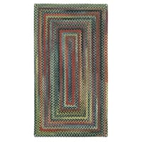 Capel Rugs Songbird Parakeet Concentric Rectangle Braided Rugs - 2' x 8'
