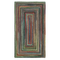 """Capel Rugs Songbird Parakeet Concentric Rectangle Braided Rugs - 2'3"""" x 4'"""