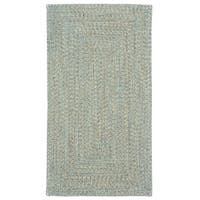 """Capel Rugs Sea Glass Carribbean Concentric Rectangle Outdoor Braided Rugs - 2'3"""" x 9'"""
