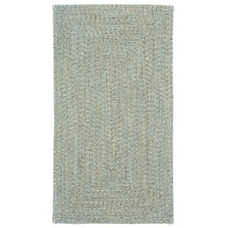 "Capel Rugs Sea Glass Carribbean Concentric Rectangle Outdoor Braided Rugs (2'3"" x 9')"