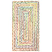 Capel Rugs Cutting Garden Multicolor Concentric Reversible Braided Area Rug (2'3 x 9')