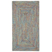 Capel Rugs Sea Glass Bright Multi Concentric Rectangle Outdoor Braided Rugs (2' x 3')