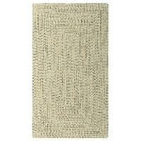 "Sea Glass Sandy Beach Concentric Rectangle Outdoor Braided Rugs (2'3"" x 9')"