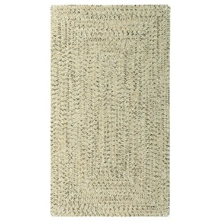"Capel Rugs Sea Glass Sandy Beach Concentric Rectangle Outdoor Braided Rugs (2'3"" x 9')"