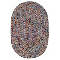 "Capel Rugs Sea Glass Bright Multi Oval Outdoor Braided Rugs - 2'3"" x 4'"
