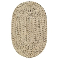 Capel Rugs Sea Glass Shell Oval Outdoor Braided Rugs - 2' x 8'
