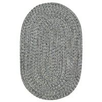 Capel Rugs Sea Glass Smoke Oval Outdoor Braided Rugs (2' x 3')
