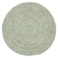 Capel Rugs Sea Glass Spa Round Outdoor Braided Rugs - 3'