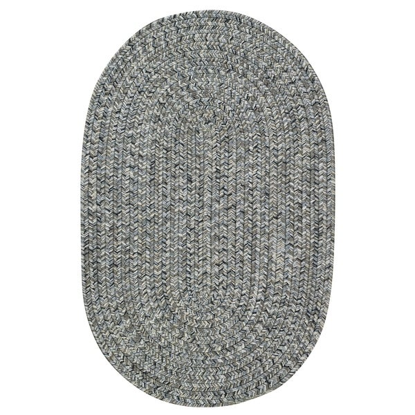 Capel Rugs Sea Glass Smoke Oval Outdoor Braided Rug - 5' x 8'